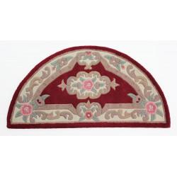 Ručně všívaný kusový koberec Lotus premium Red půlkruh