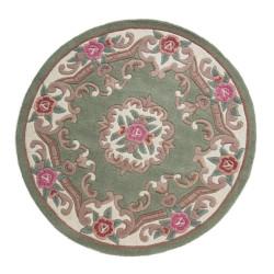 Ručně všívaný kusový koberec Lotus premium Green kruh