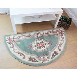 Ručně všívaný kusový koberec Lotus premium Green půlkruh
