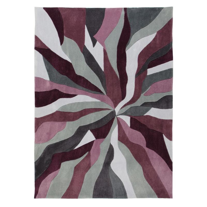 Ručně všívaný kusový koberec Infinite Splinter Purple