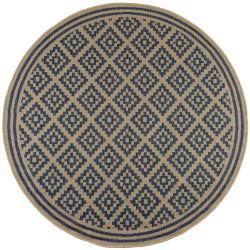 Kusový koberec Florence Alfresco Moretti Blue/Beige kruh
