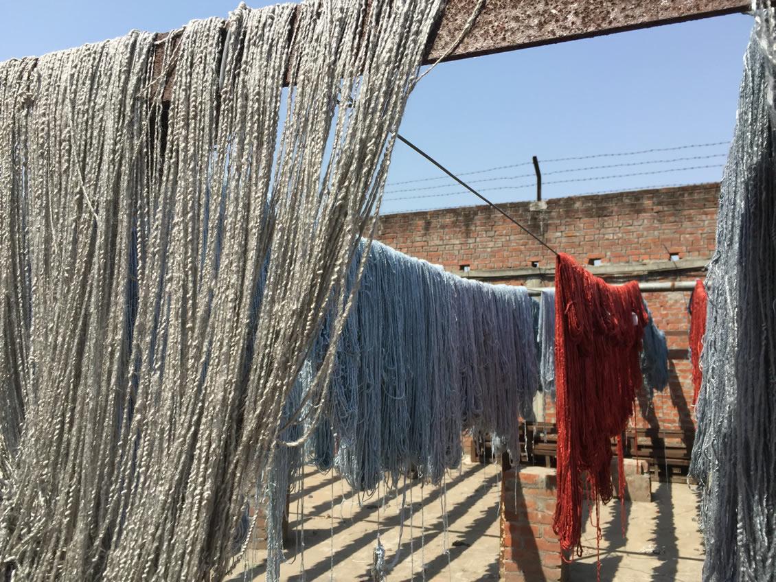 Výroba a barvení vlny