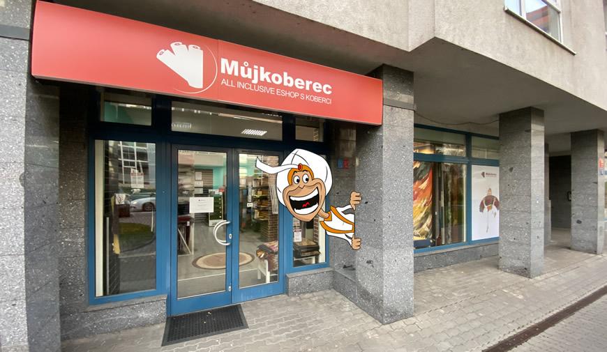 Mujkoberec.cz - prodejna zvenku