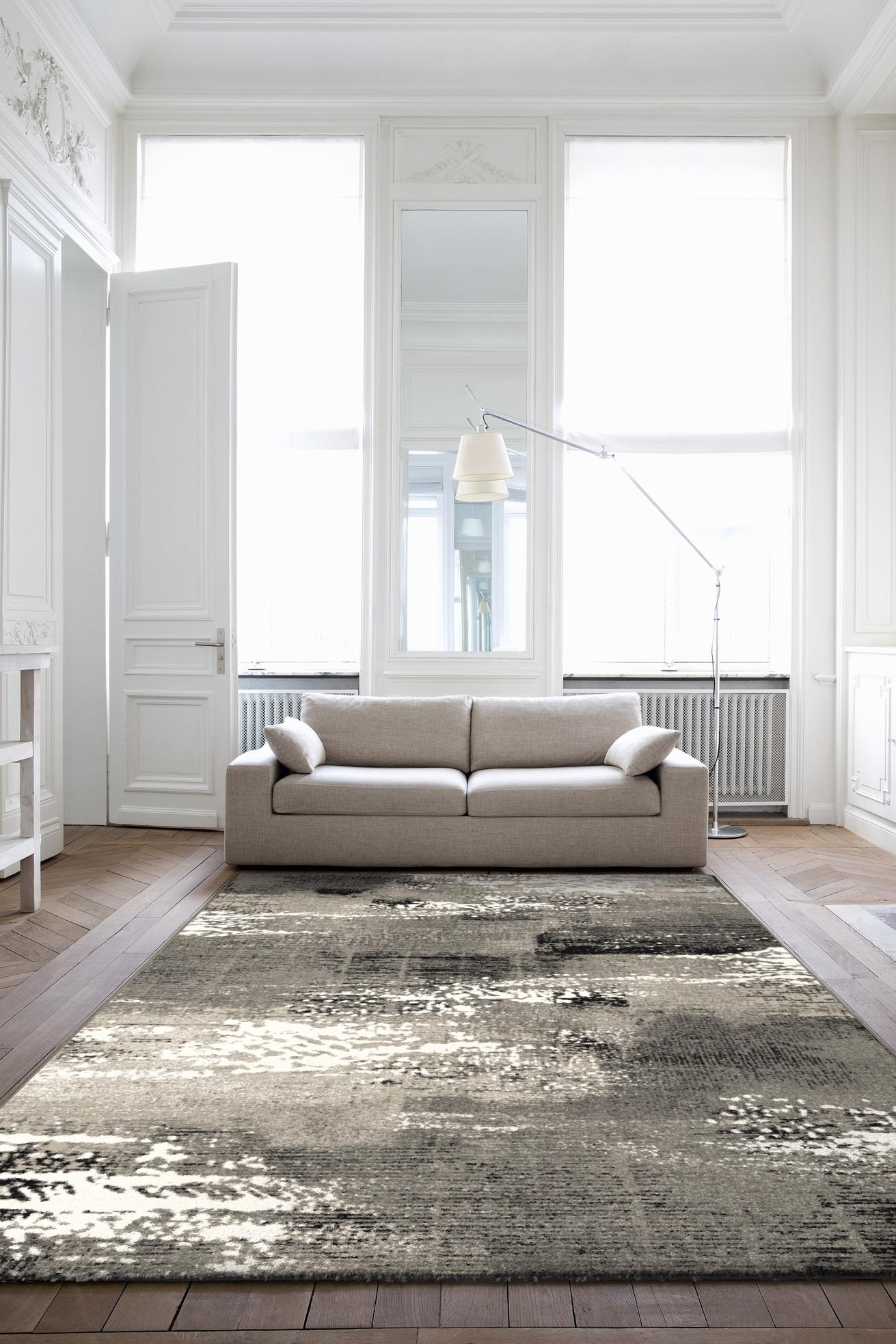 Kusový koberec Infinity šedý