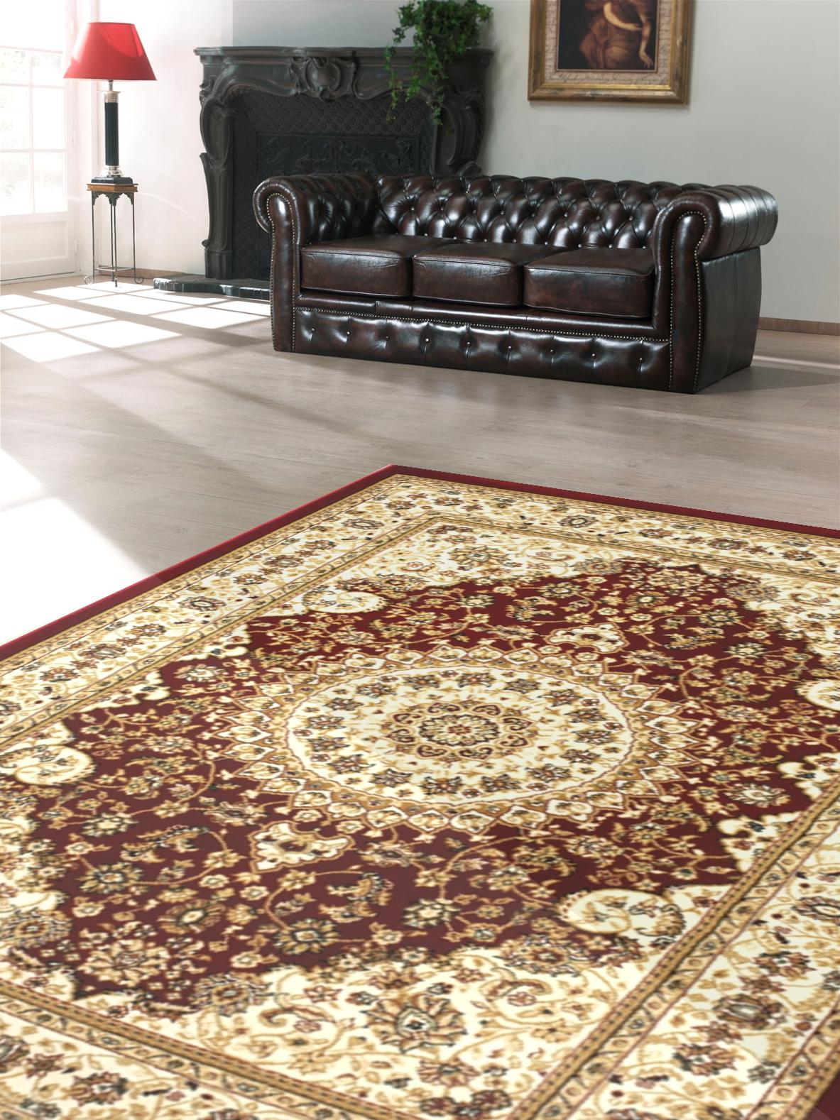 Kusový koberec Salyut hnědý
