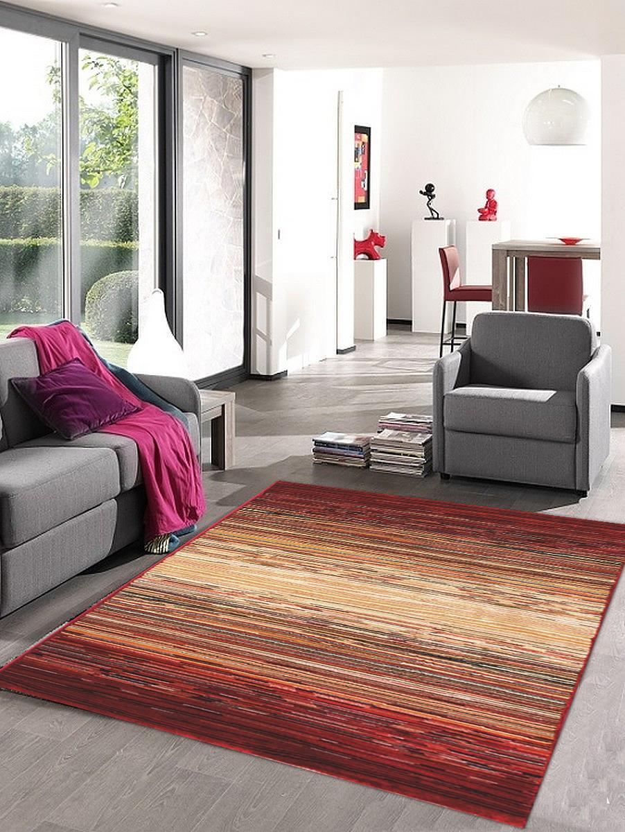 Kusový koberec Cambridge béžovo červený