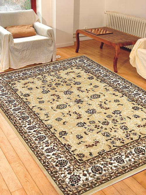 Kusový béžový koberec Salyut