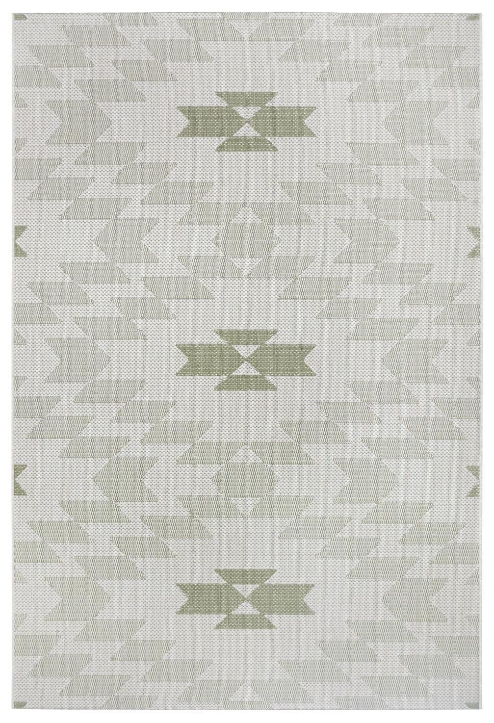Hanse Home Collection koberce AKCE: 120x170 cm Kusový koberec Flatweave 104870 Cream/Green - 120x170 cm