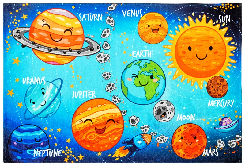 Obsession koberce Kusový koberec Torino kids 230 SOLAR SYSTEM - 80x120 cm