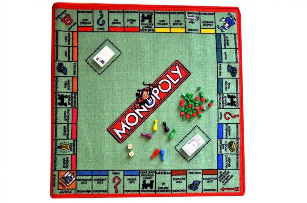 Hrací koberec Monopoly - 92x92 cm