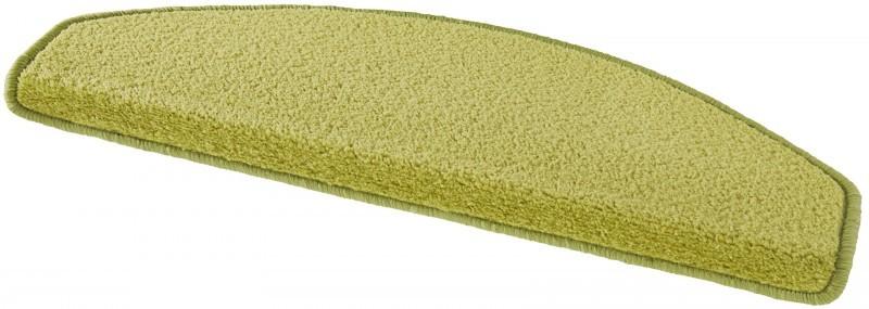 Hanse Home Collection koberce Sada 15ks nášlapů na schody: Fancy 103009 zelené - 23x65 půlkruh (rozměr včetně ohybu)