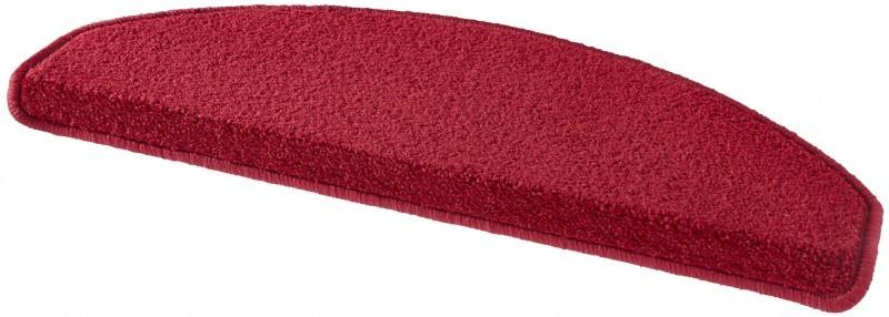 Hanse Home Collection koberce Sada 15ks nášlapů na schody: Fancy 103012 červené - 23x65 půlkruh (rozměr včetně ohybu)
