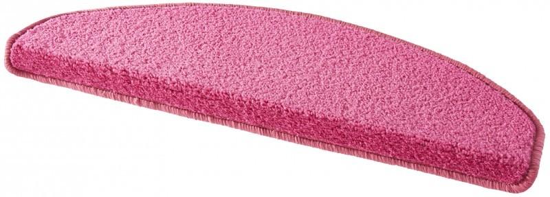 Hanse Home Collection koberce Sada 15ks nášlapů na schody: Fancy 103011 růžové - 23x65 půlkruh (rozměr včetně ohybu)