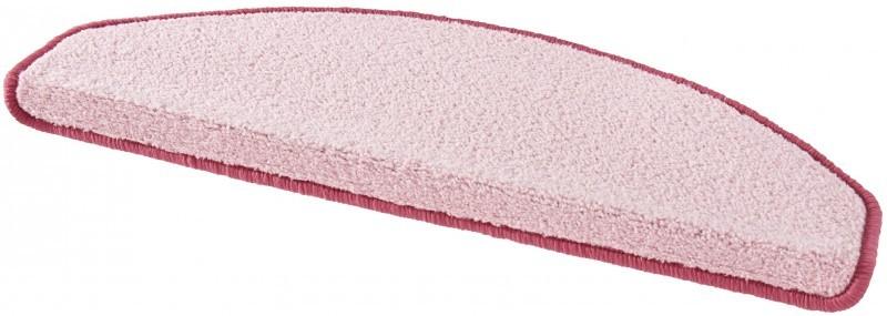 Hanse Home Collection koberce Sada 15ks nášlapů na schody: Fancy 103010 růžové - 23x65 půlkruh (rozměr včetně ohybu)