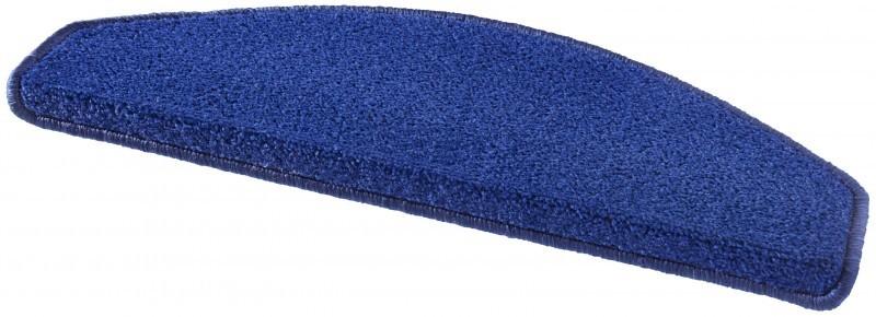 Hanse Home Collection koberce Sada 15ks nášlapů na schody: Fancy 103007 modré - 23x65 půlkruh (rozměr včetně ohybu)