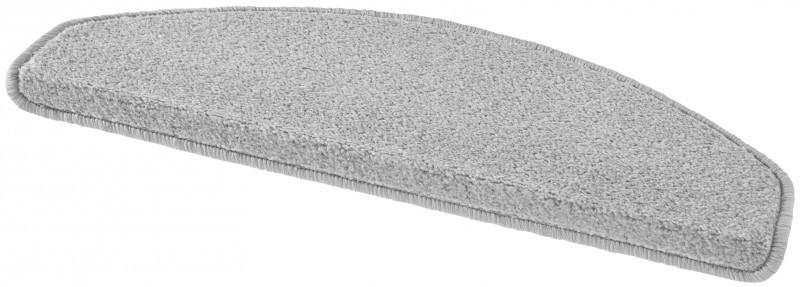 Hanse Home Collection koberce Sada 15ks nášlapů na schody: Fancy 103006 šedé - 23x65 půlkruh (rozměr včetně ohybu)