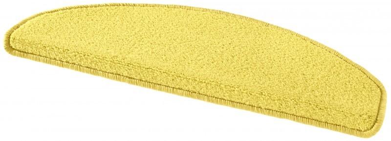 Hanse Home Collection koberce Sada 15ks nášlapů na schody: Fancy 103002 žluté - 23x65 půlkruh (rozměr včetně ohybu)