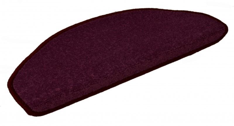 Hanse Home Collection koberce Sada 15ks nášlapů na schody: Nasty 102368 Brombeer Violett - 23x65 půlkruh (rozměr včetně ohybu)