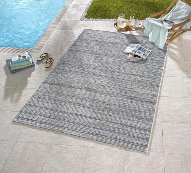 Bougari - Hanse Home koberce Venkovní kusový koberec Lotus 102445 Hellgrau Blau Meliert - 120x170 cm
