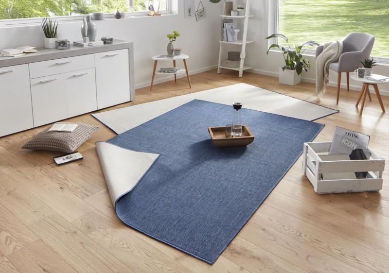 Bougari - Hanse Home koberce Kusový koberec Twin-Wendeteppiche 103100 blau creme - 120x170 cm