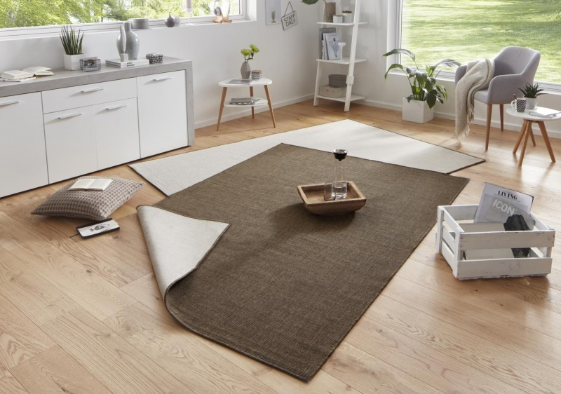 Bougari - Hanse Home koberce Kusový koberec Twin-Wendeteppiche 103099 braun creme - 120x170 cm