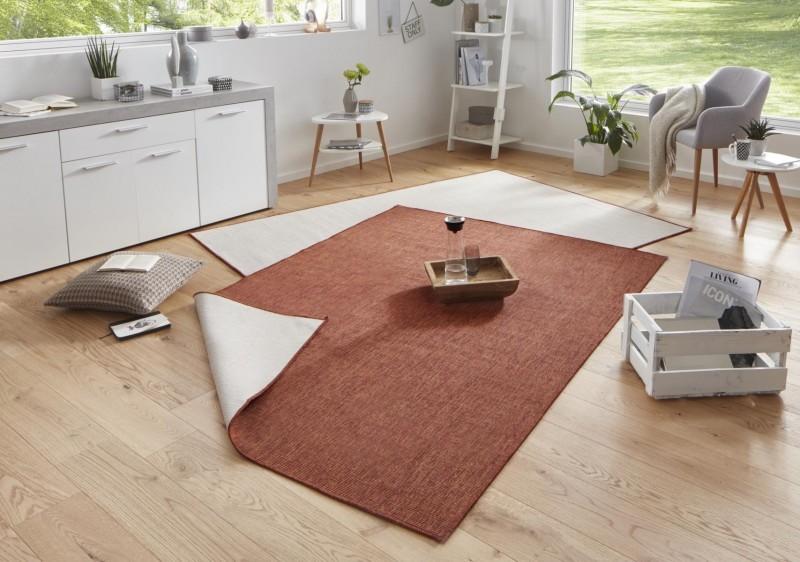 Bougari - Hanse Home koberce Kusový koberec Twin-Wendeteppiche 103098 terra creme - 120x170 cm