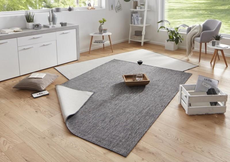 Bougari - Hanse Home koberce Kusový koberec Twin-Wendeteppiche 103097 grau creme - 120x170 cm