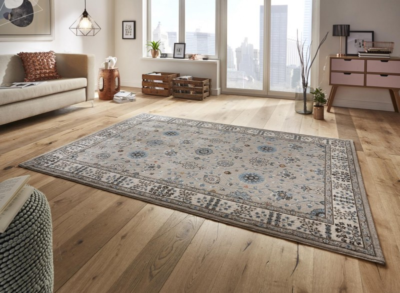 Kusový koberec Classico 102796 grau beige blau
