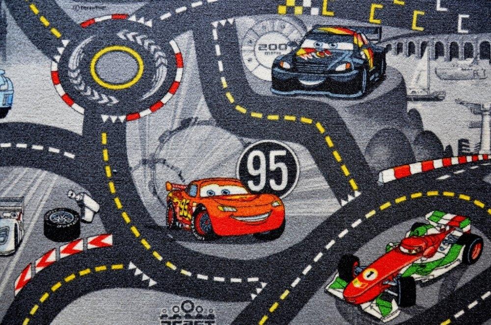 Vopi koberce Kusový koberec The World of Cars 97 šedý - 200x200