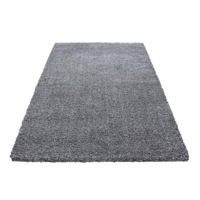 Ayyildiz koberce Kusový koberec Ancona shaggy 9000 lightgrey - 80x150 cm