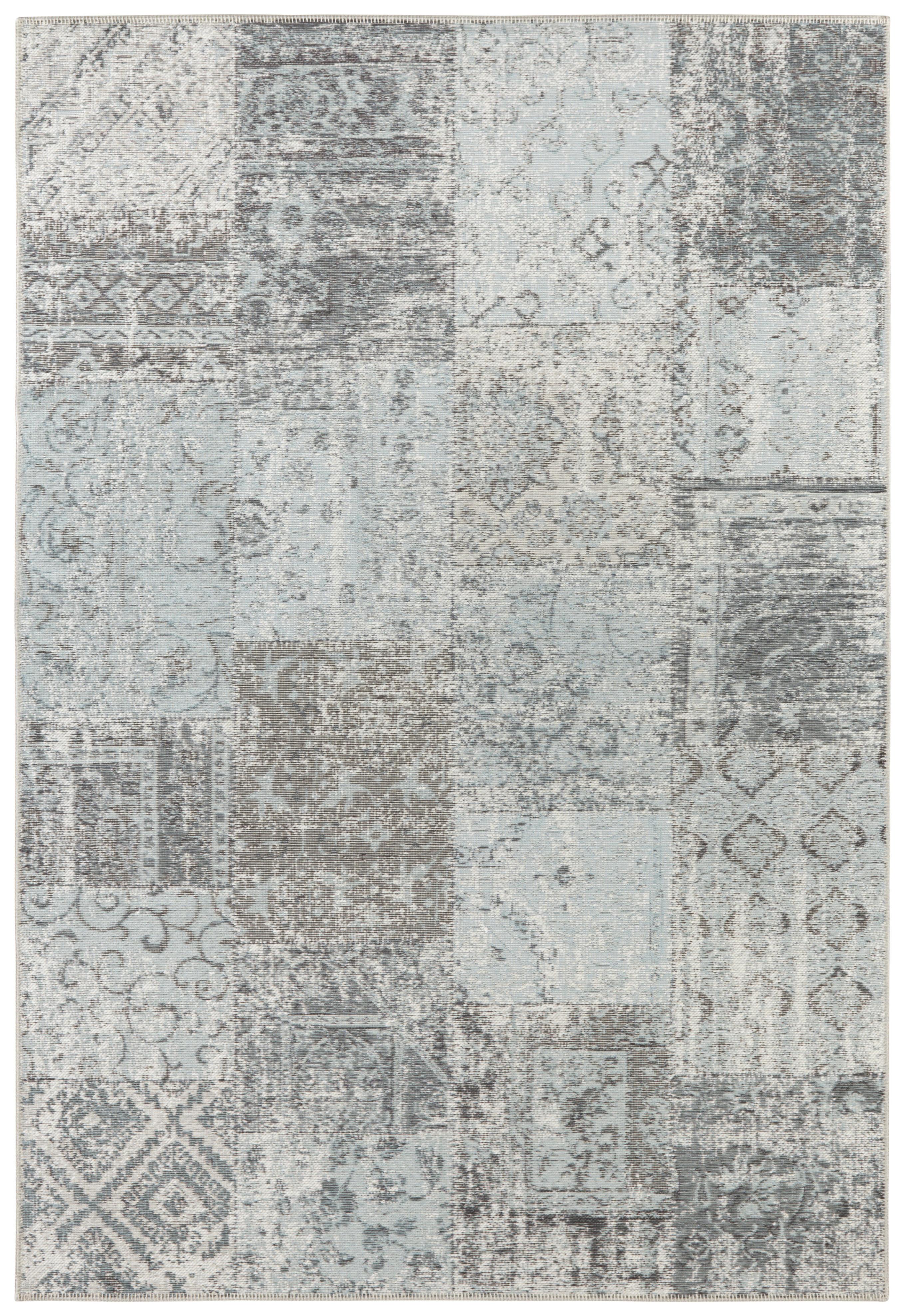 Levně ELLE Decor koberce Kusový koberec Pleasure 103587 Light Blue/Black/Cream z kolekce Elle - 120x170 cm Modrá
