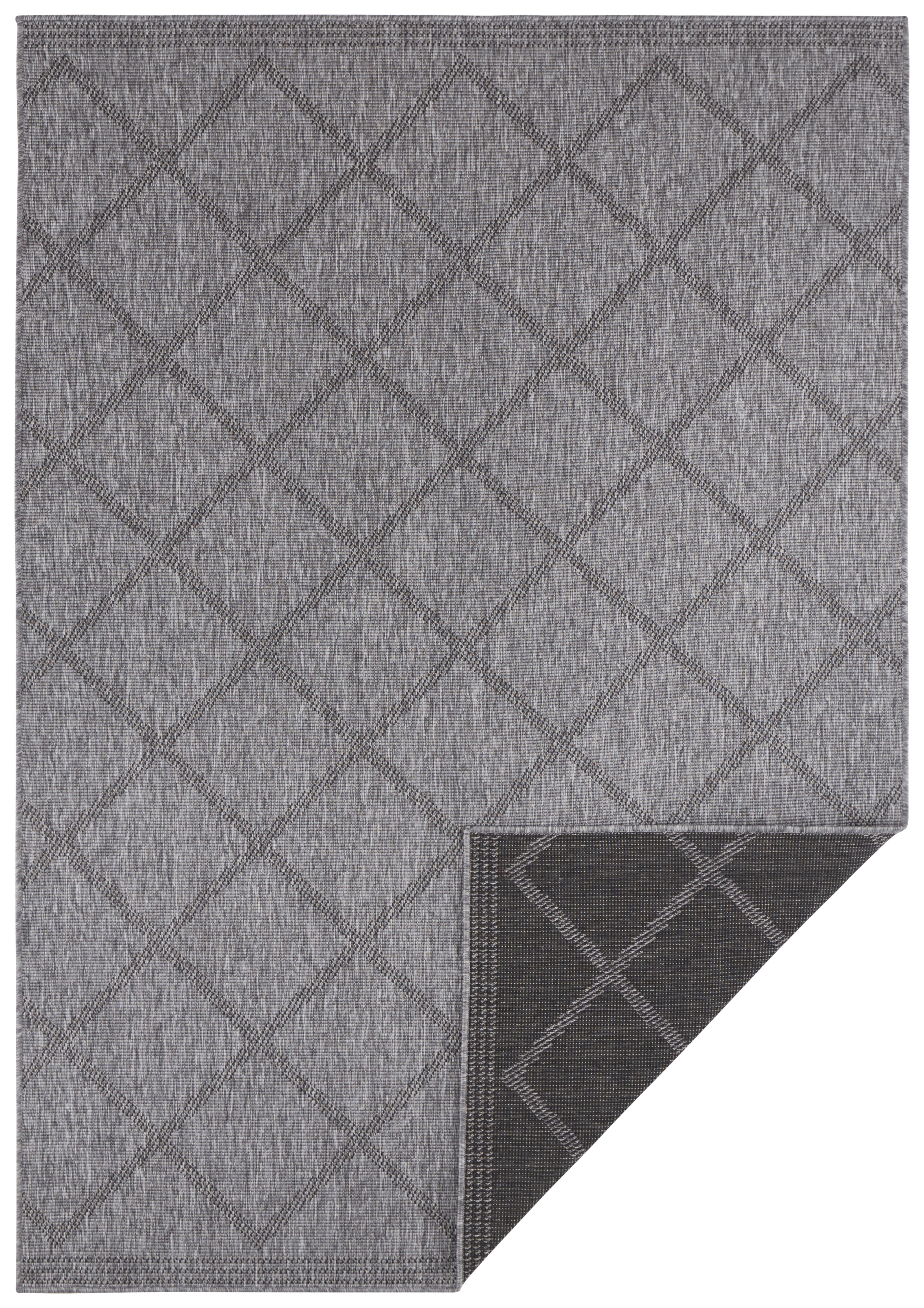 Bougari - Hanse Home koberce Kusový koberec Twin Supreme 103757 Black/Anthracite - 160x230 cm