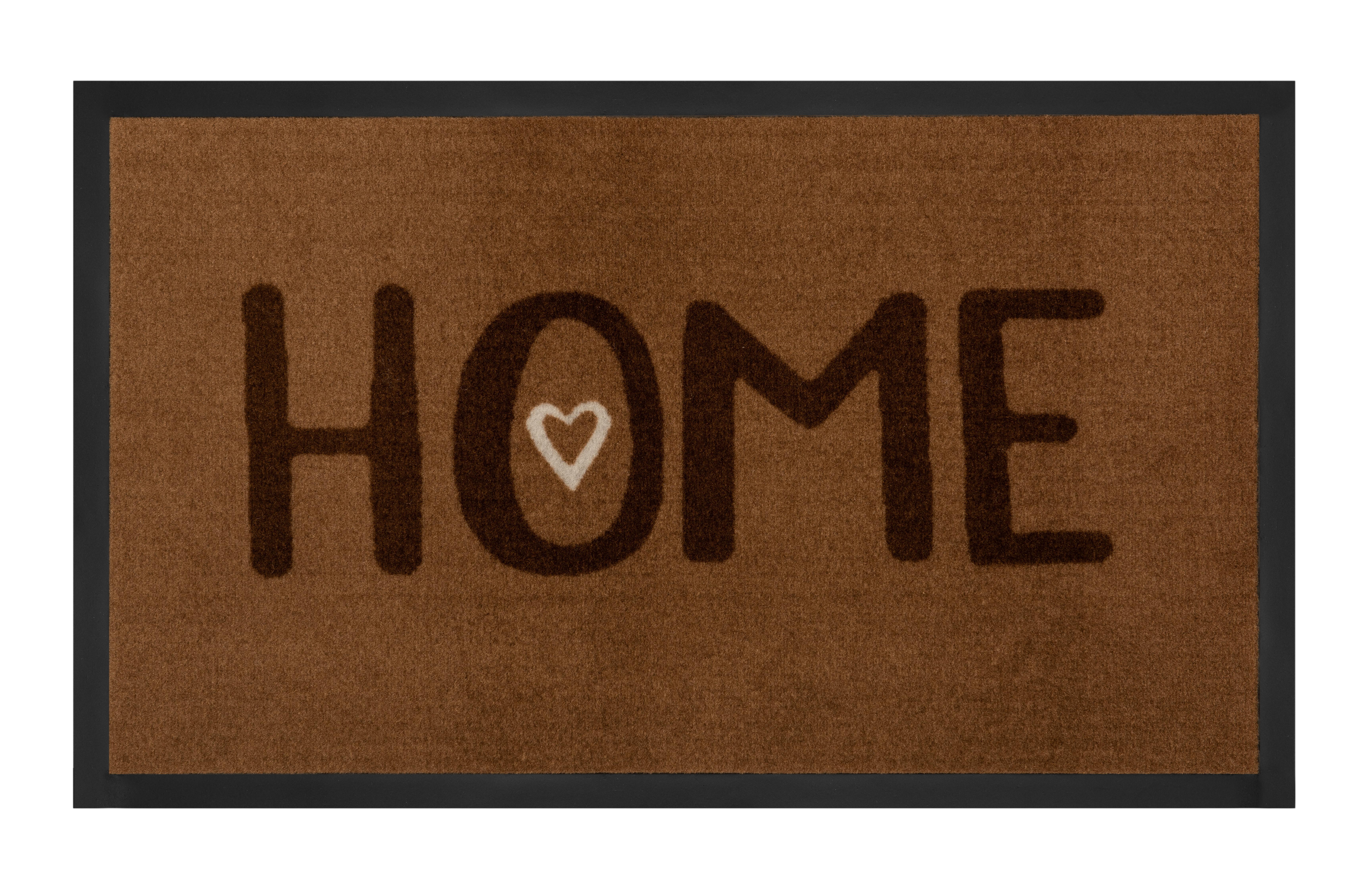 Hanse Home Collection koberce Protiskluzová rohožka Printy 103804 Brown - 45x75 cm