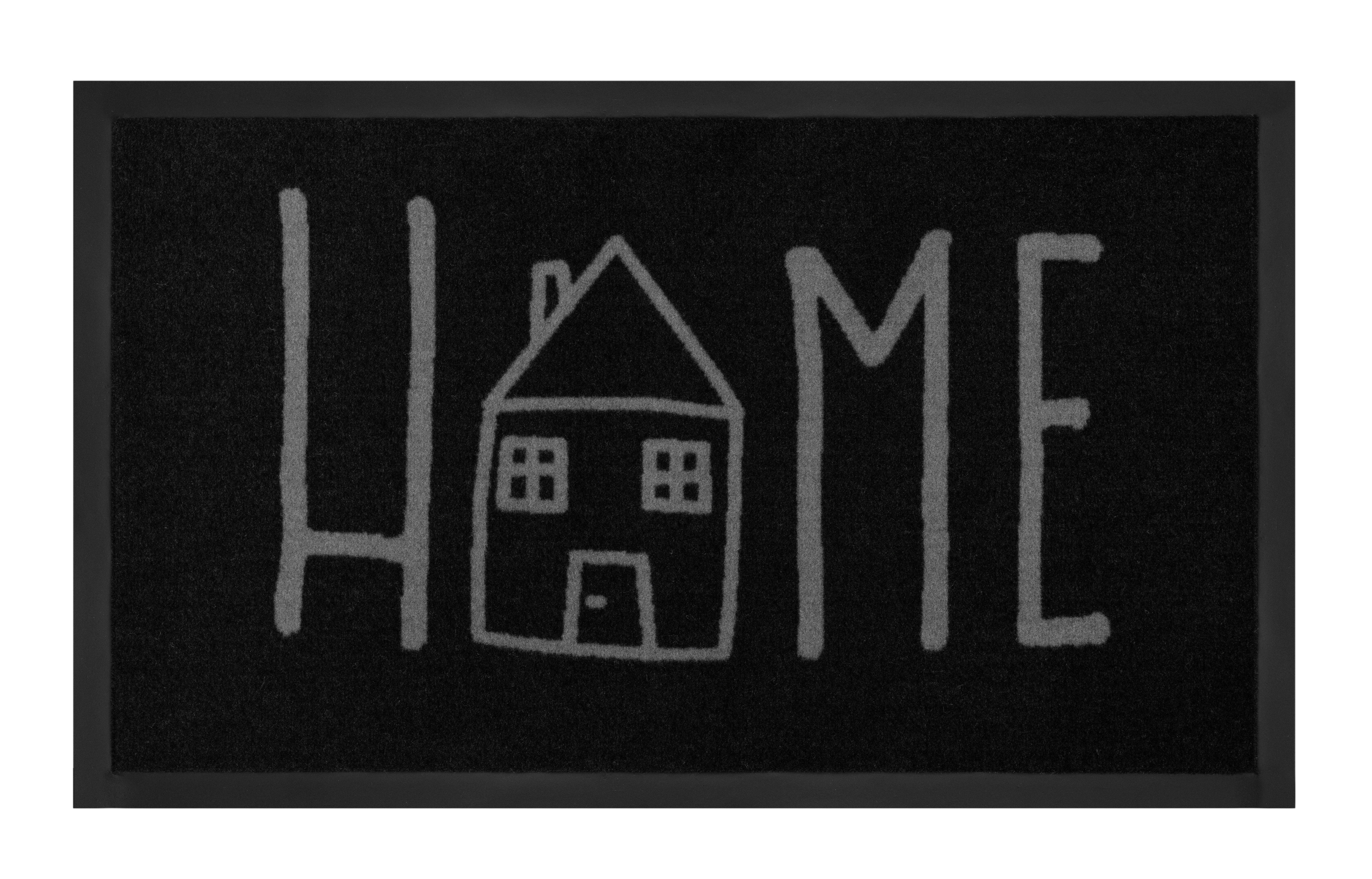 Hanse Home Collection koberce Protiskluzová rohožka Printy 103801 Anthracite Grey - 45x75 cm