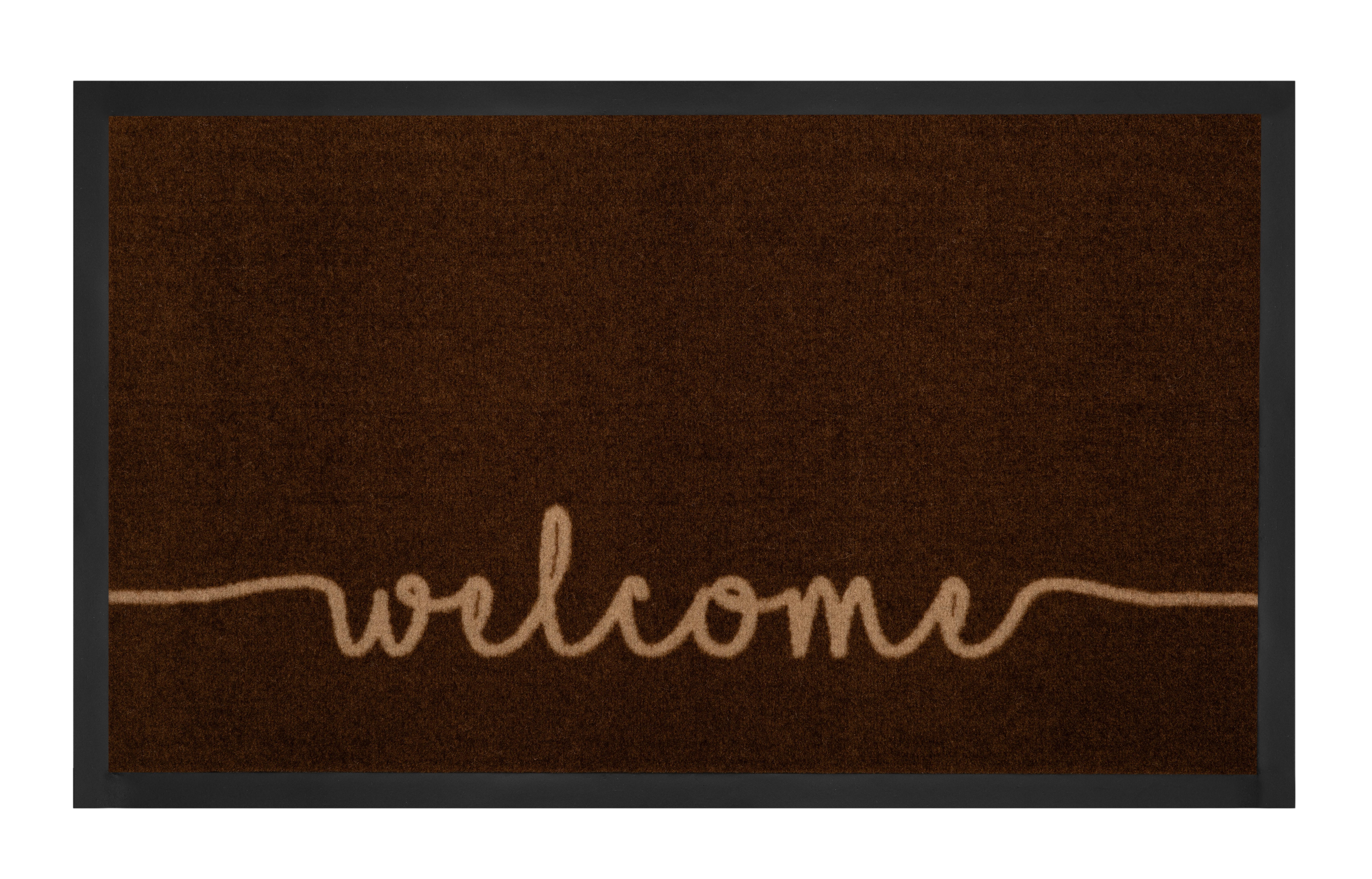 Hanse Home Collection koberce Protiskluzová rohožka Printy 103795 Darkbrown Beige - 45x75 cm