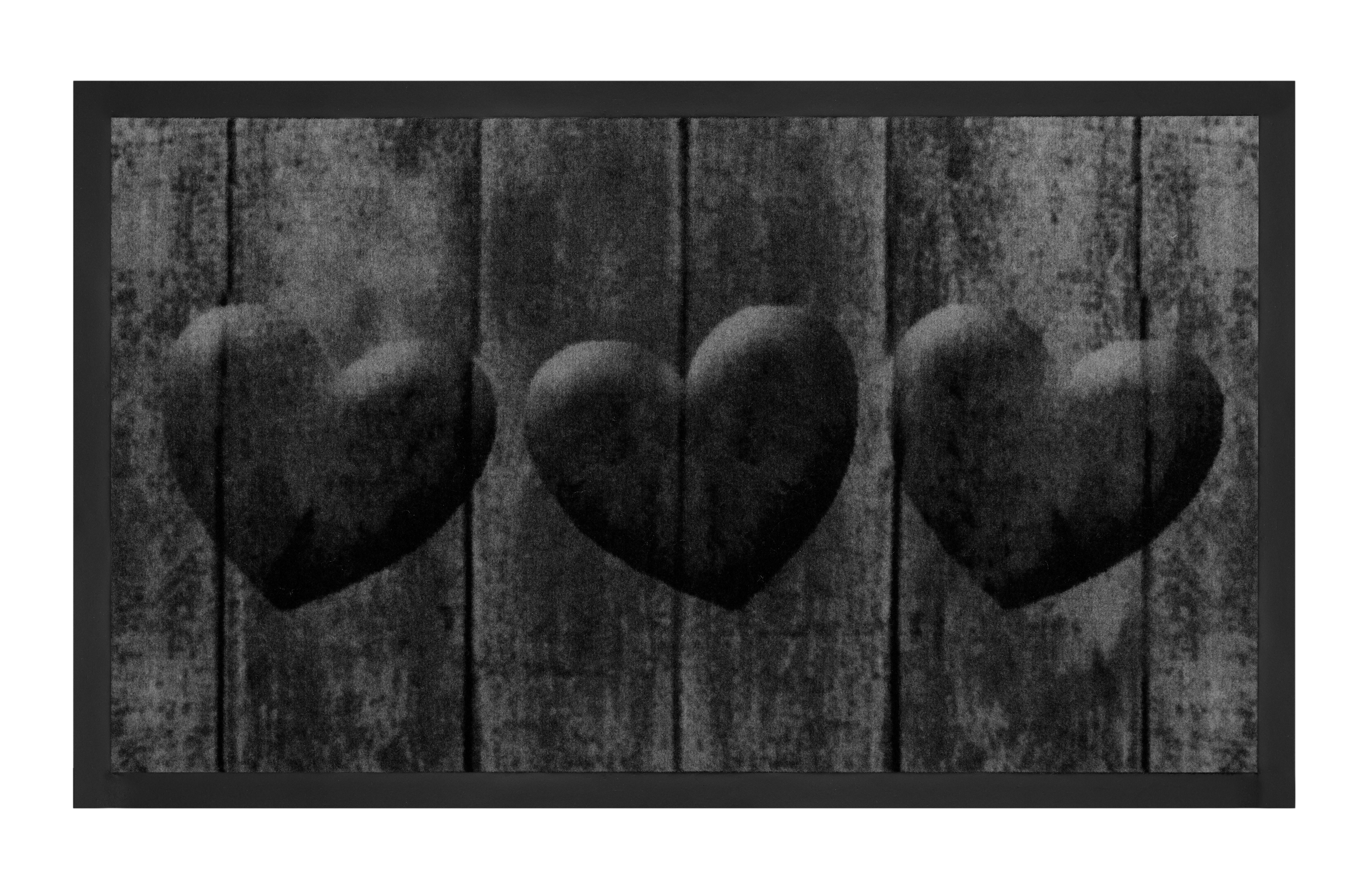 Hanse Home Collection koberce Protiskluzová rohožka Printy 103793 Grey Anthracite - 45x75 cm
