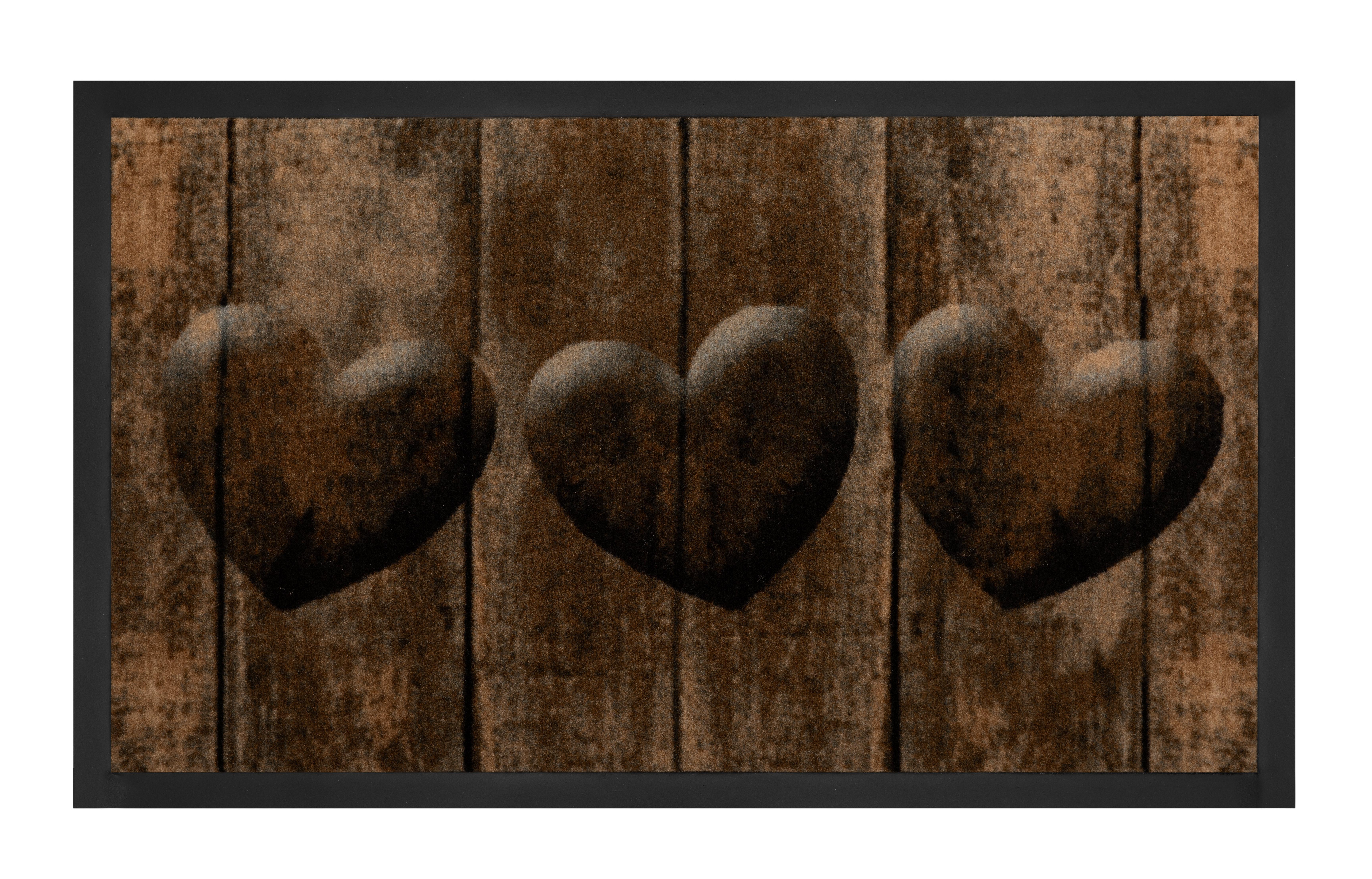Hanse Home Collection koberce Protiskluzová rohožka Printy 103792 Brown Grey - 45x75 cm