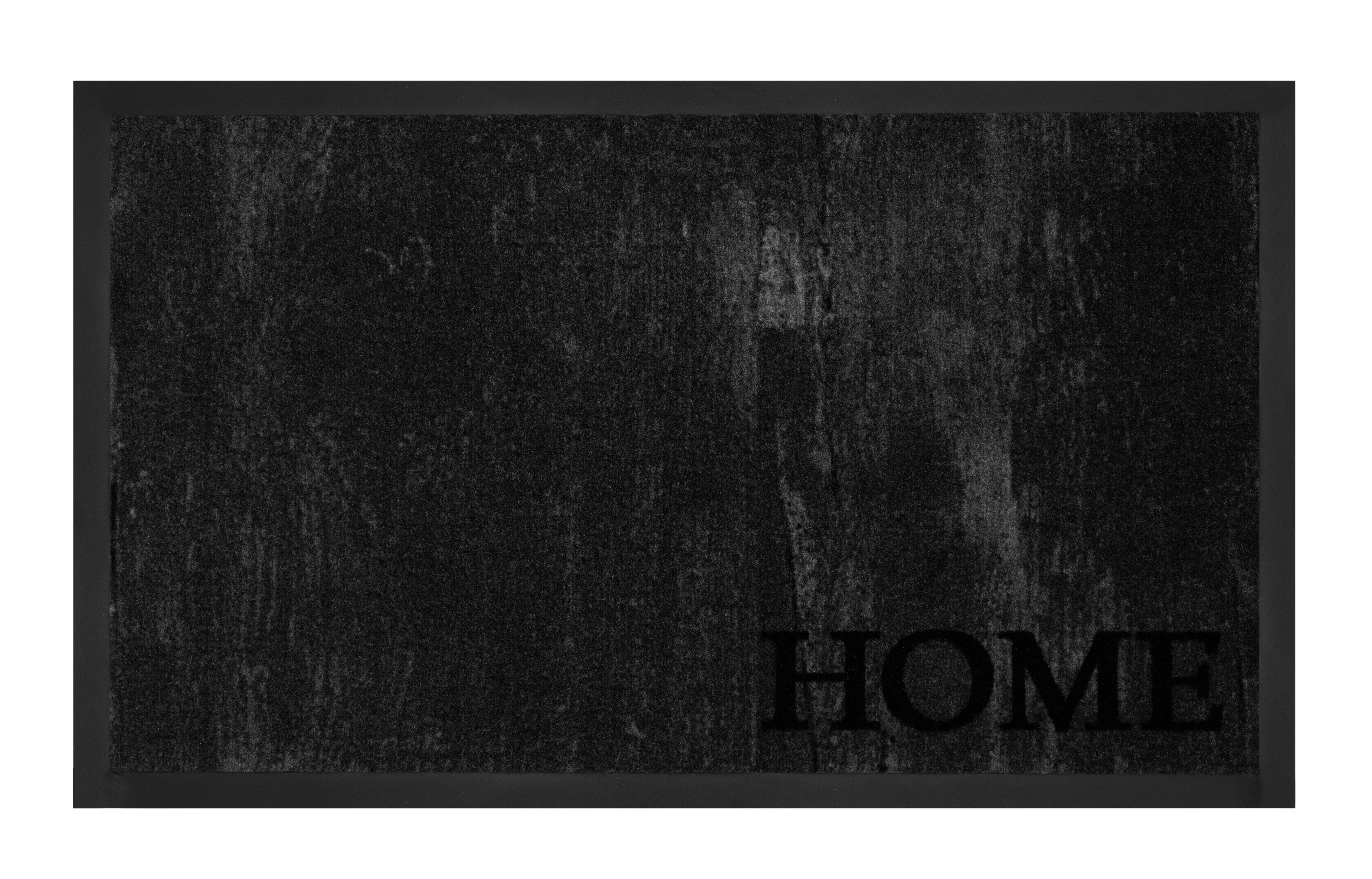 Hanse Home Collection koberce Protiskluzová rohožka Printy 103790 Grey Anthracite - 45x75 cm