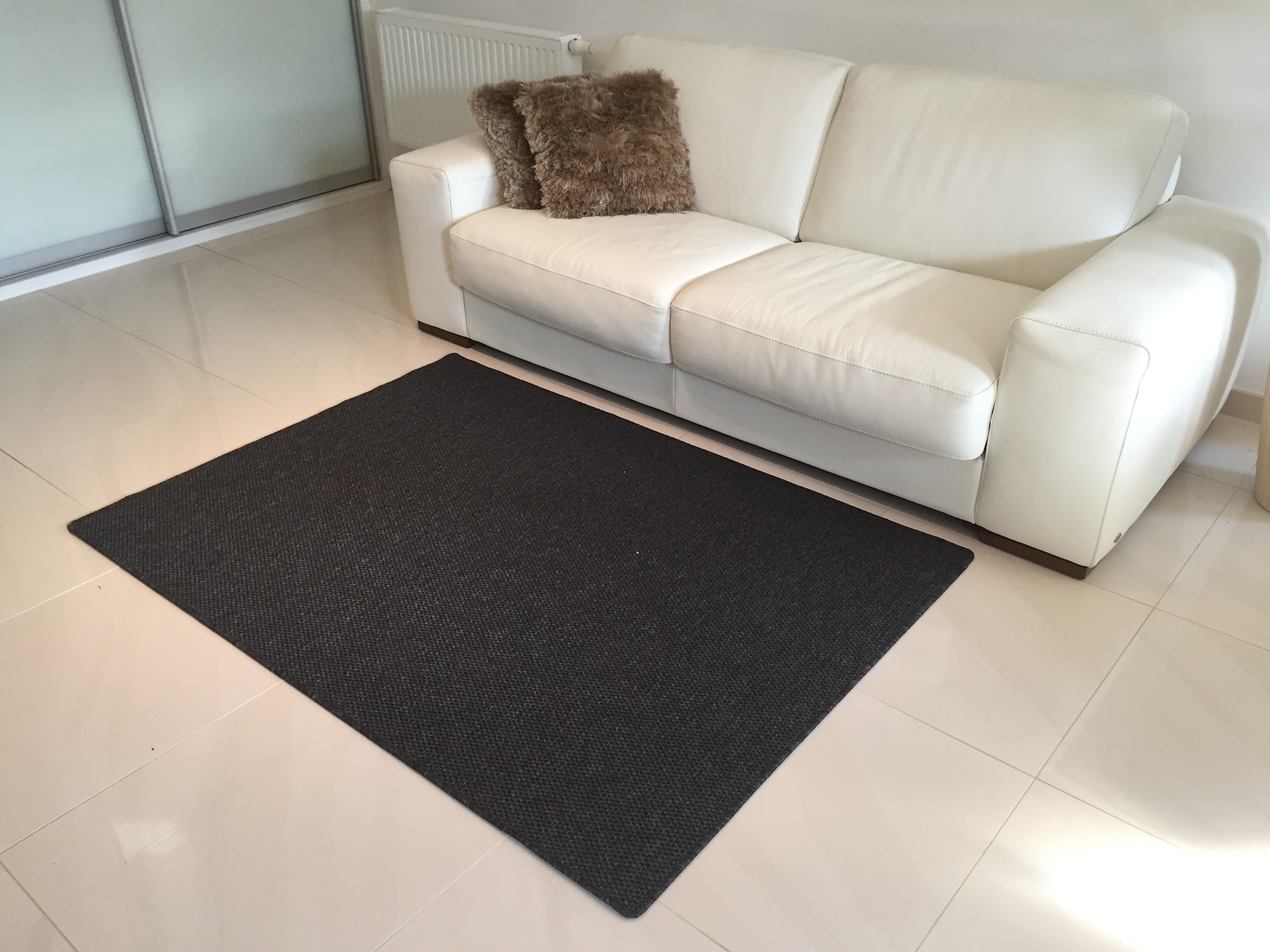 Vopi koberce Kusový koberec Nature antracit - 57x120 cm