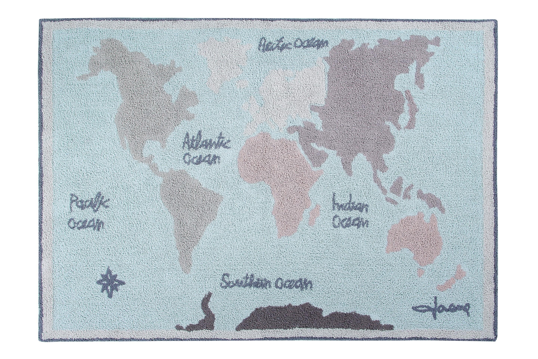 Lorena Canals koberce Ručně tkaný kusový koberec Vintage Map - 140x200 cm