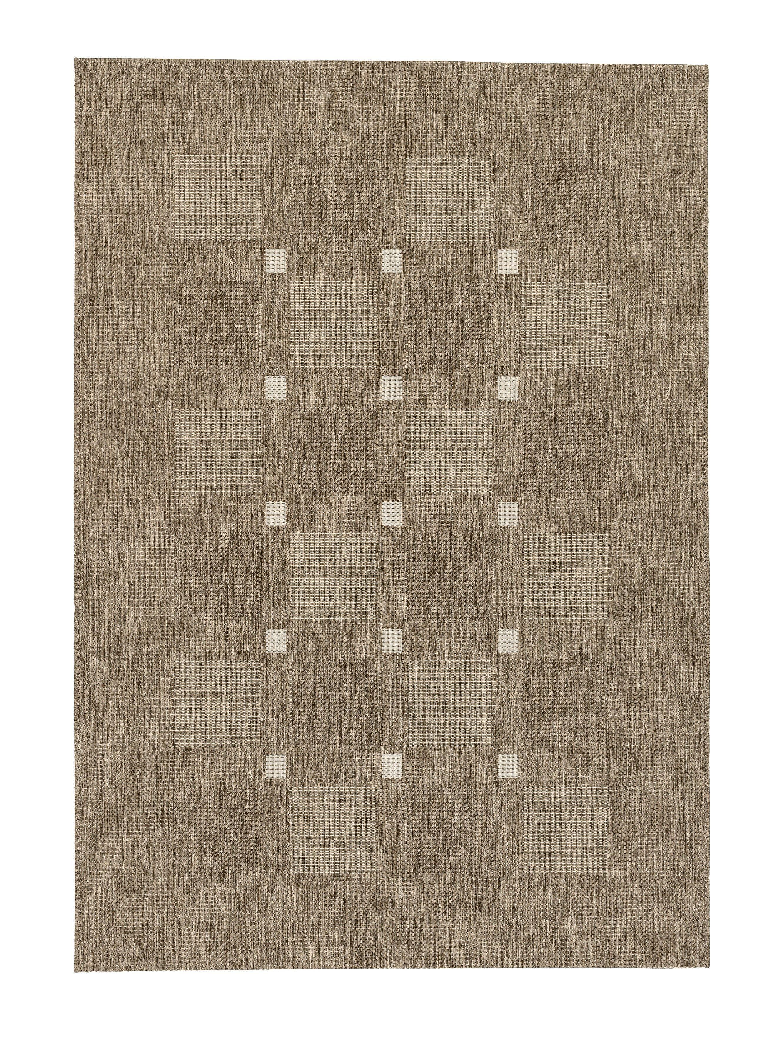 Astra - Golze koberce Kusový koberec Andria 163084 Squares Taupe - 120x170 cm
