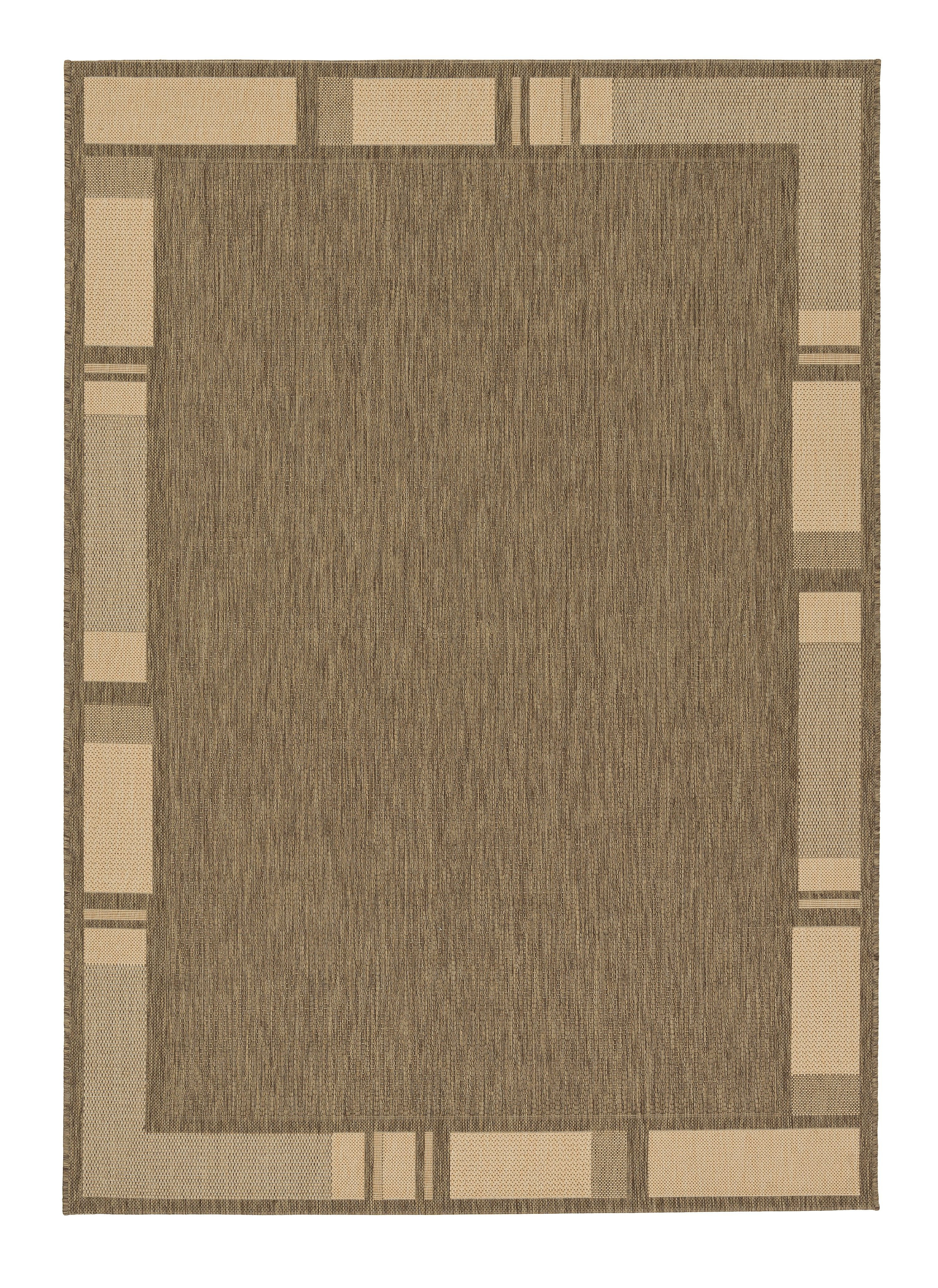 Astra - Golze koberce Kusový koberec Andria 171060 Border Coffee/Natural - 60x110 cm