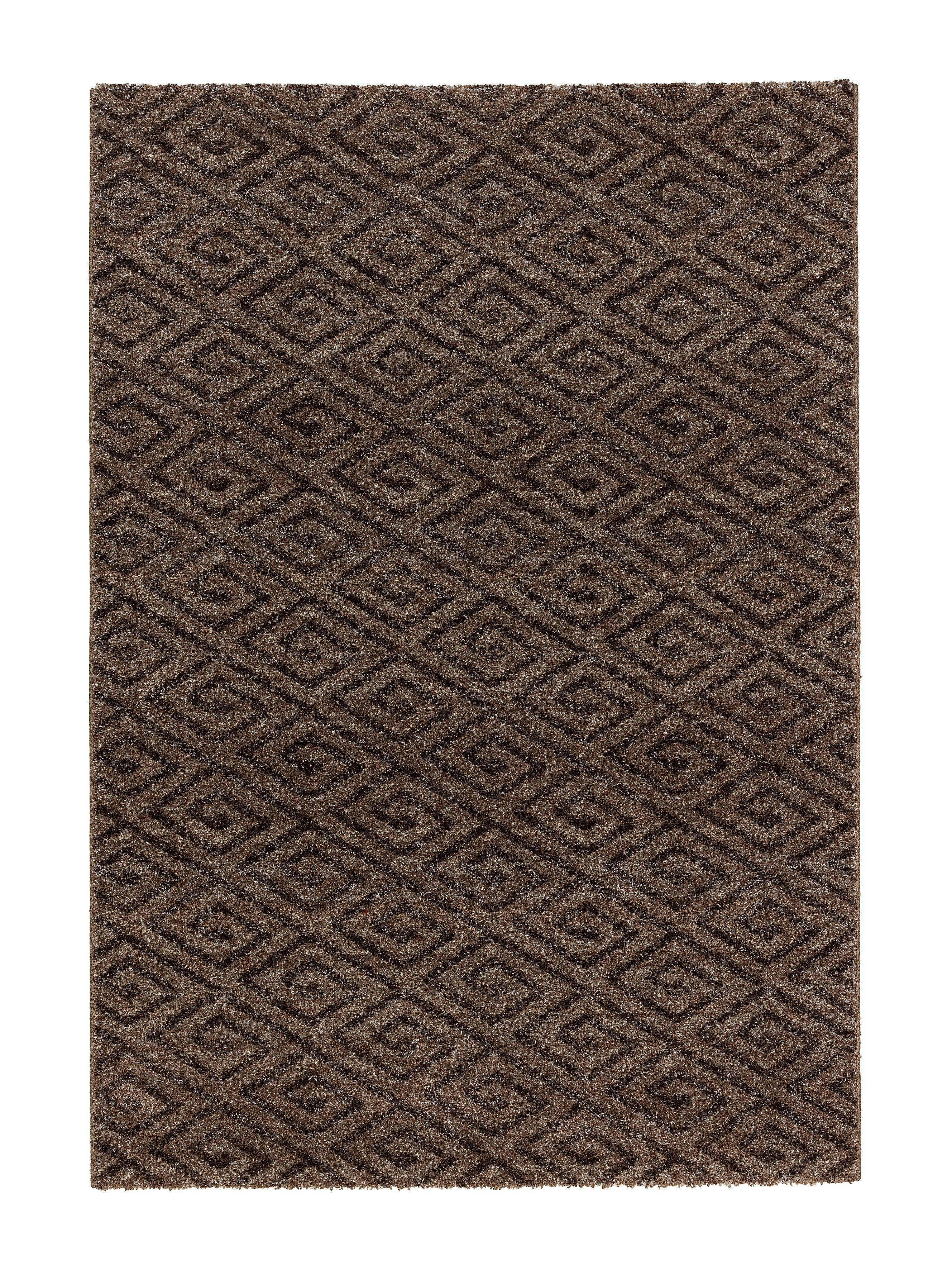 Astra - Golze koberce Kusový koberec Carpi 152060 Diamonds Braun - 200x290 cm