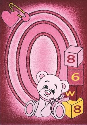 Spoltex koberce Liberec Kusový koberec Toys pink C 126 - 133x195 cm