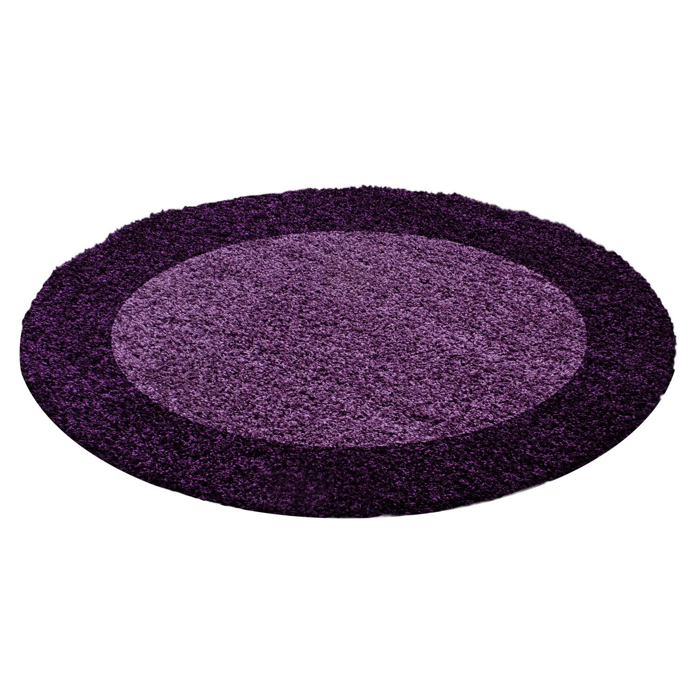Ayyildiz koberce Kusový koberec Life Shaggy 1503 lila kruh - 120x120 (průměr) kruh cm