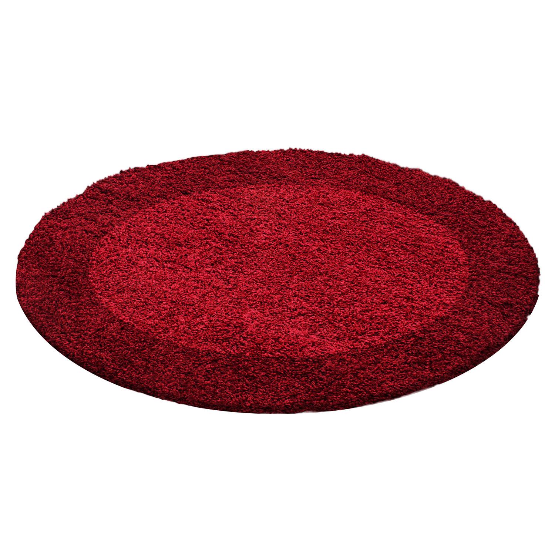 Ayyildiz koberce Kusový koberec Life Shaggy 1503 red kruh - 200x200 (průměr) kruh cm
