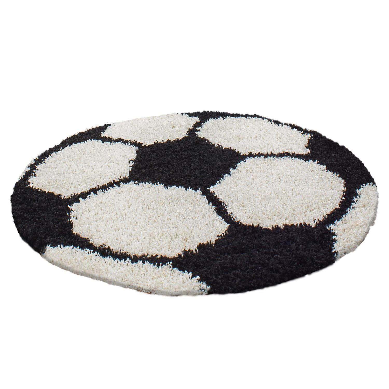 Ayyildiz koberce Kusový koberec Fun 6001 black - 100x100 (průměr) kruh cm