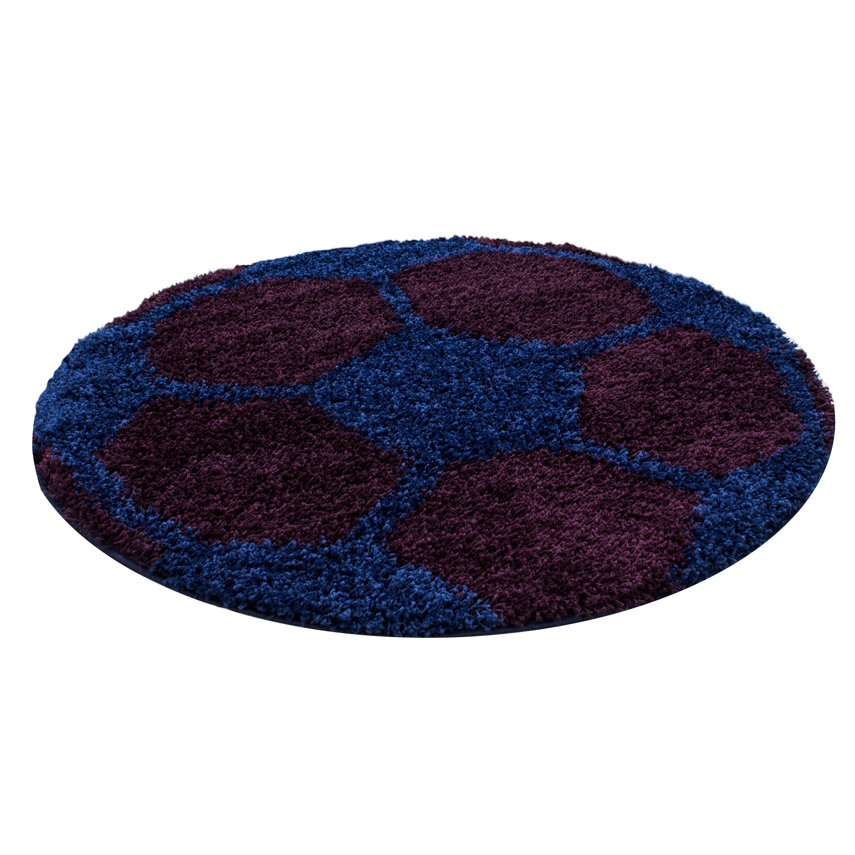 Ayyildiz koberce Kusový koberec Fun 6001 navy - 100x100 (průměr) kruh cm