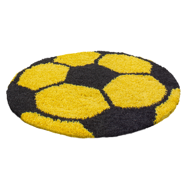 Ayyildiz koberce Kusový koberec Fun 6001 yellow - 100x100 (průměr) kruh cm