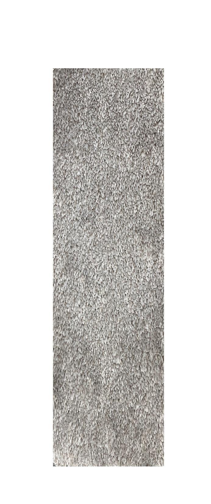 Vopi koberce Běhoun na míru Apollo Soft šedý - šíře 40 cm s obšitím